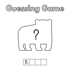 Cartoon Bear Guessing Game