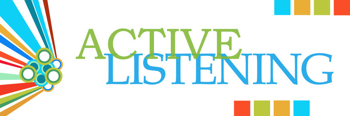 Active Listening Colorful Graphics Horizontal