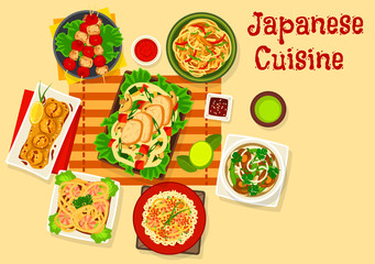 Japanese cuisine seafood dinner dishes icon