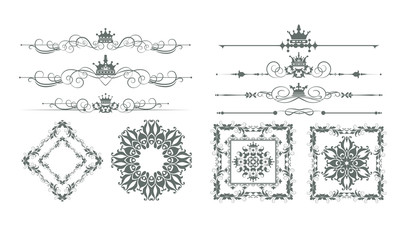 Ornate calligraphic vintage elements. Vintage style. Vector set for Your design