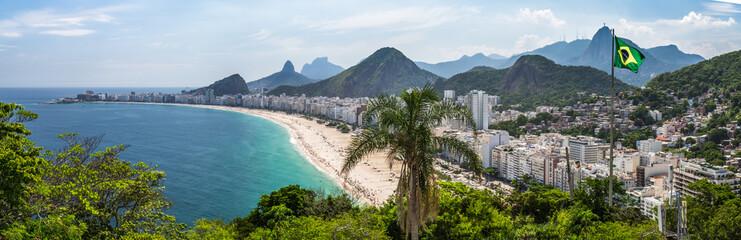 Photo sur Plexiglas Rio de Janeiro Blick auf die Copacabana, vom Fort in Rio de Janeiro, Brasilien