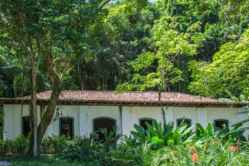 Hütte im botanischen Garten in Brasilien