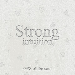 Strong intuition - gps of the soul. Quote. Stone engraving - stone background. Tile. Decorative element.