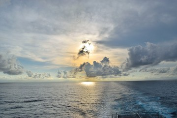 インド洋の夕日