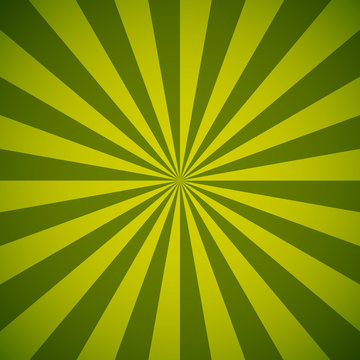 Green and yellow sun burst vector background.