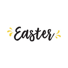 Easter Lettering and Splashes