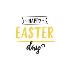 Happy Easter Day Lettering With Underline
