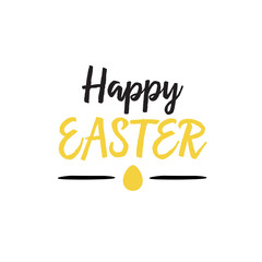 Happy Easter Lettering With Egg