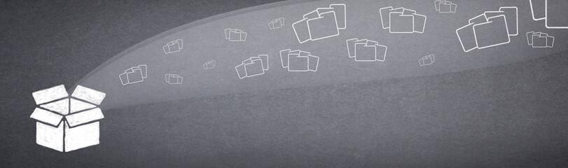 Folders fly into the carton