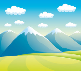 High mountains.