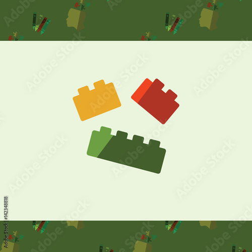 Greeting Card With Lego Symbol Stock Image And Royalty Free Vector