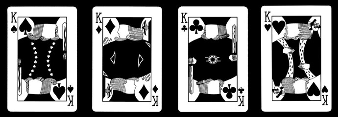 4 Kings in a row - Playing Cards