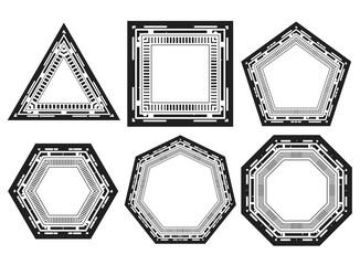 Vector icon of frames