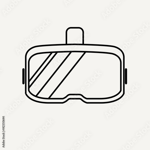179147b579 Virtual reality glasses. Thick lines and flat style vector illustration.