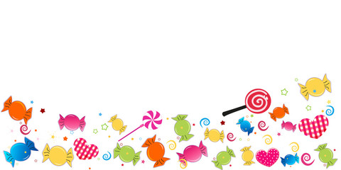 Colorful sweet candy greeting card