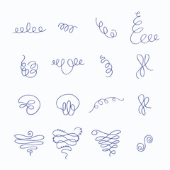 Vector icon set of doodle