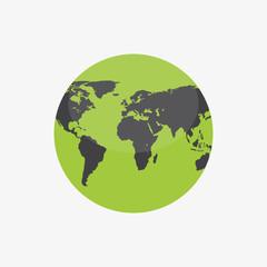 Globe Icon. World map. Earth icon.