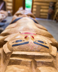 New Totem Pole in Lodge House