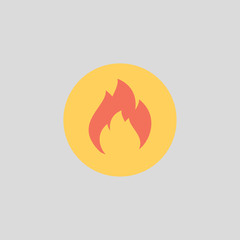 burn icon flat design