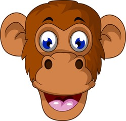 Monkey cartoon muzzle