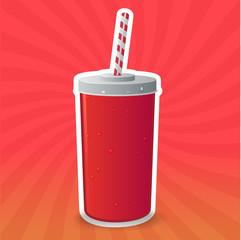 Soda cup vector illustration