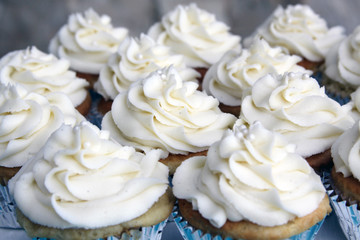 Wedding Vanilla Bean Cupcakes Outside