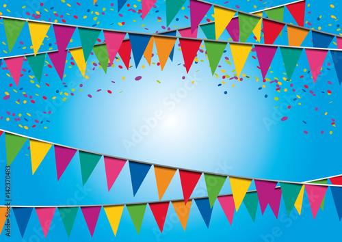 Fond fte fanions anniversaire confettis invitation fond fte fanions anniversaire confettis invitation dcoration stopboris Images