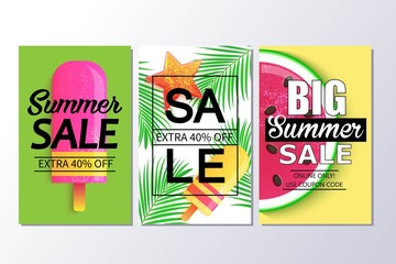 Big summer sale background for banner, wallpaper.