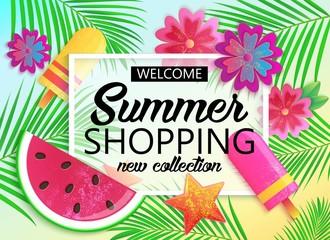 Big summer sale background for banner, wallpaper.
