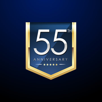 Anniversary gold shield