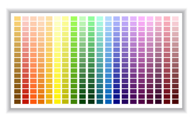 Color palette. Color shade chart. Vector illustration