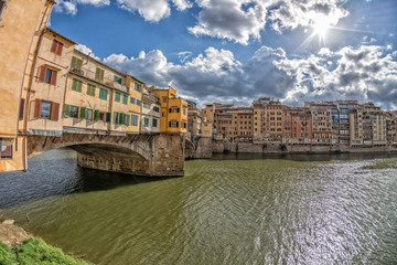 Florence Ponte Vecchio on sunny day