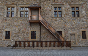 Picture of stairs to beautiful castle in Sanok.