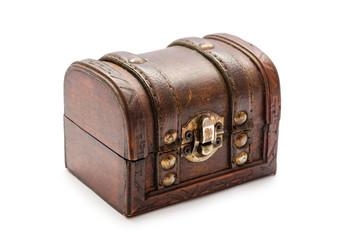 Old vintage treasure chest.