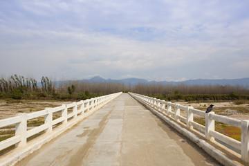 white bridge over a punjabi river