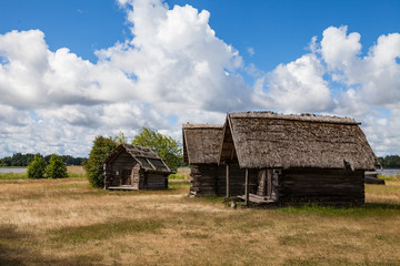Wooden rural houses, Baltic traditions, Latvia