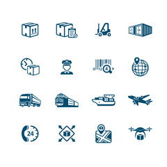 Logistics icons || MICRO series