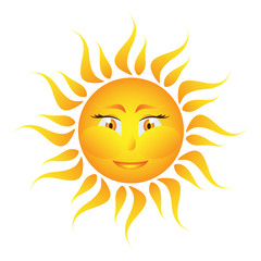 Icon of the sun on a white background