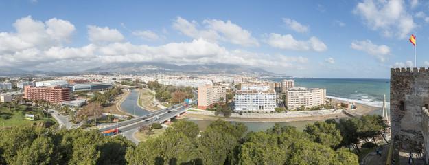 Aerial view of Fuengirola city, Malaga