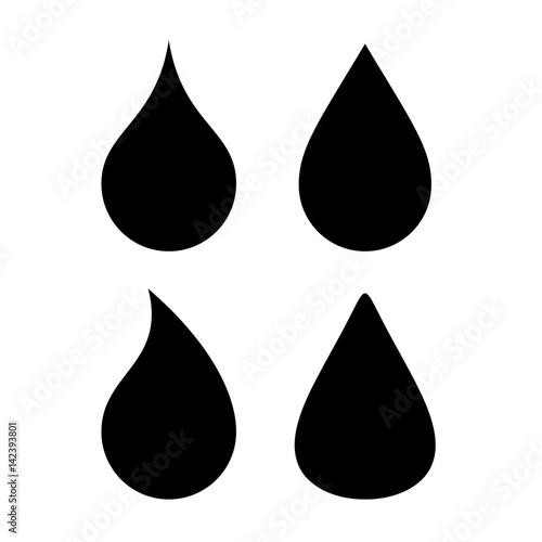 quot water drop vector silhouette icon quot  stock image and raindrops vector image black raindrop wallpaper vector