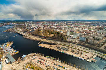 View of Tampere and Nasijarvi Lake from Tampere TV Tower, Finland