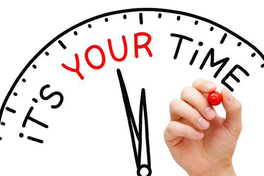 It Is Your Time Clock Concept