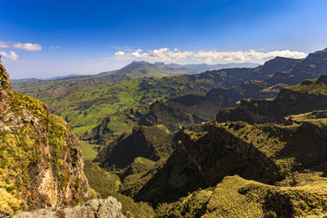 Ethiopia. Simien Mountains National Park, surroundings of Bwahit Pass