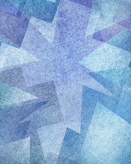 abstract blue background design with modern art style layers of geometric shapes and triangles with texture