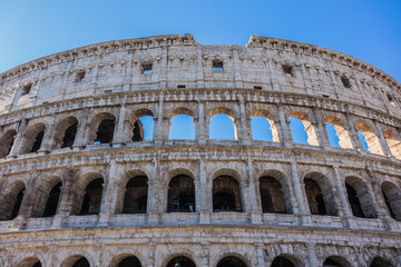 Iconic ancient Colosseum. Rome, Italy.