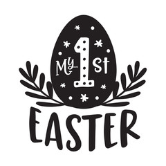 Happy Easter, My First Easter Kids Baby Illustration