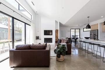 Stunning contemporary open plan living and dining room