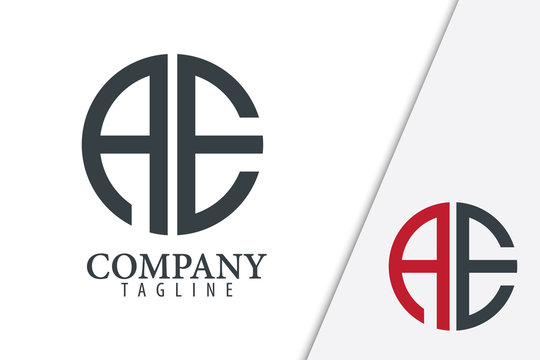 Initial Letter AE With Linked Circle Logo