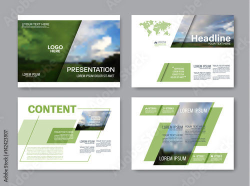 set of presentation layout design template for powerpoint. annual, Presentation templates