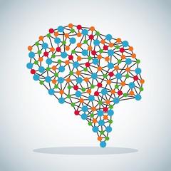 human brain science image organ vector illustration eps 10